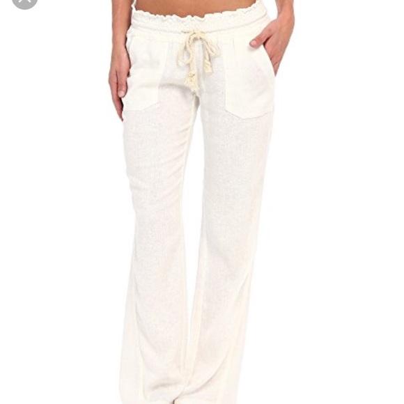 dab460a9d8 ROXY white linen pants. M_5b2bffd12beb797371960017